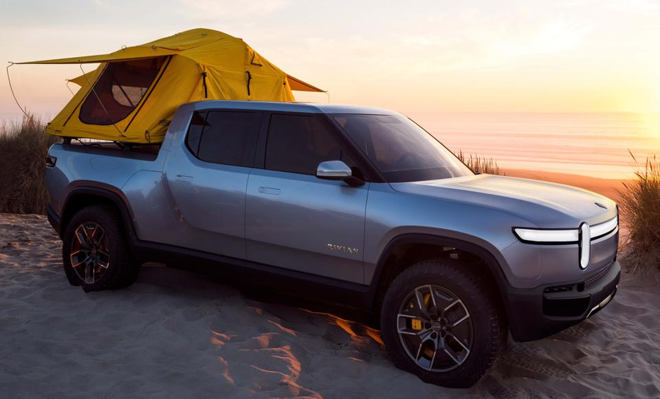The Rivian R1T pickup goes into production in late 2020.