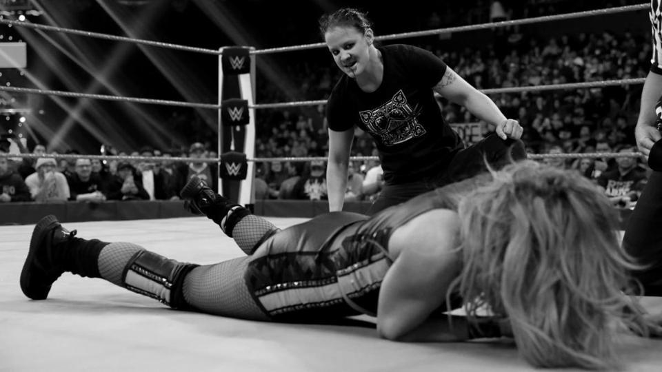 Shayna Baszler bites Becky Lynch WWE Raw NXT