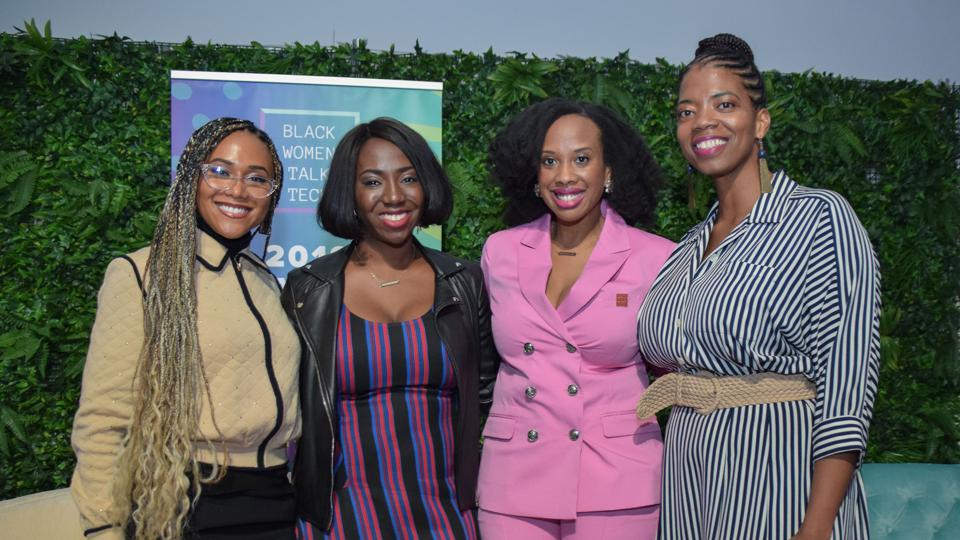 Regina Gwynn, Lauren Washington and Esosa Ighodaro - BWTT's founders - are joined by Shameless Maya at the 2019 Roadmap to Billions conference in New York on February 28.