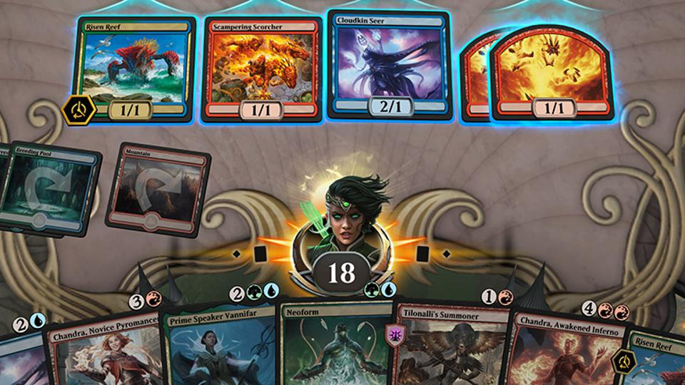 Gameplay from 'Magic: The Gathering Arena'