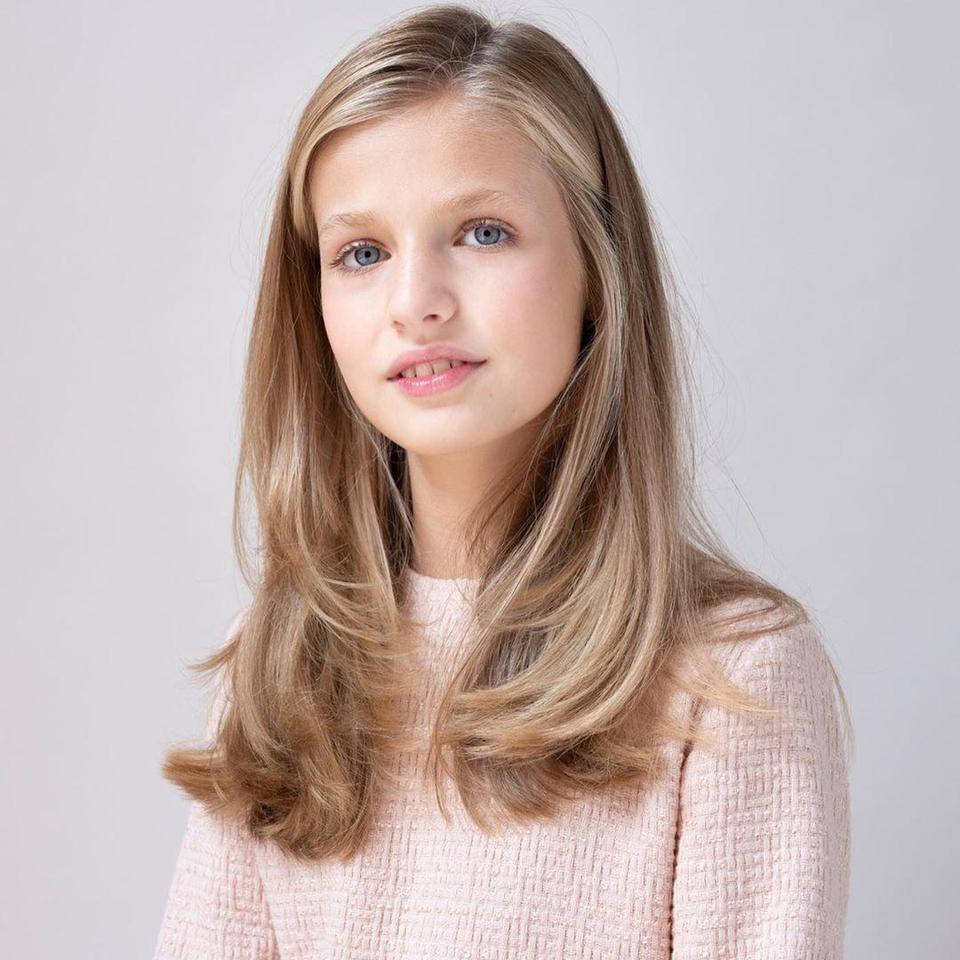 Beautiful 14 year old Princess Leonor, heir to the Spanish throne