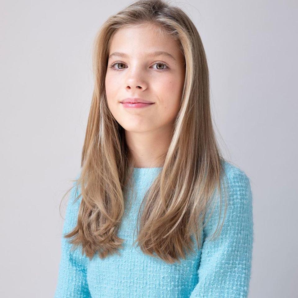 Beautiful 12-year-old Princess Sofia of Spain