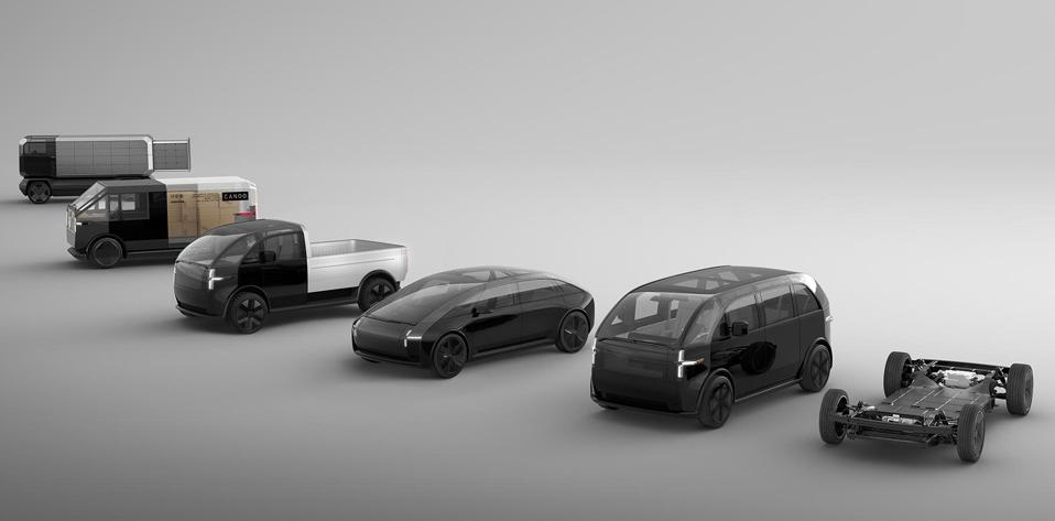 Electric vehicle startup Canoo's skateboard-style platform is designed to be used for a range of models.