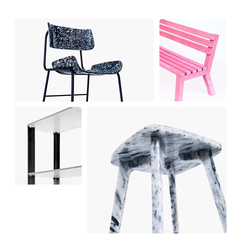 furniture, reuse, recycle, design, plastic