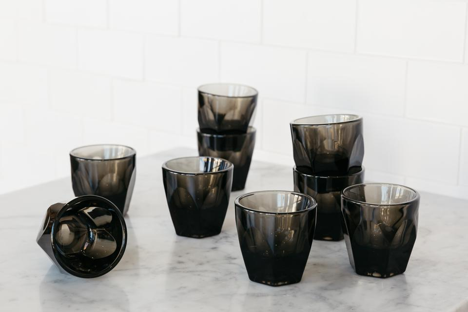 notNeutral VERO Cortado Smoke Marble vessel for drinking hot or cold coffee.