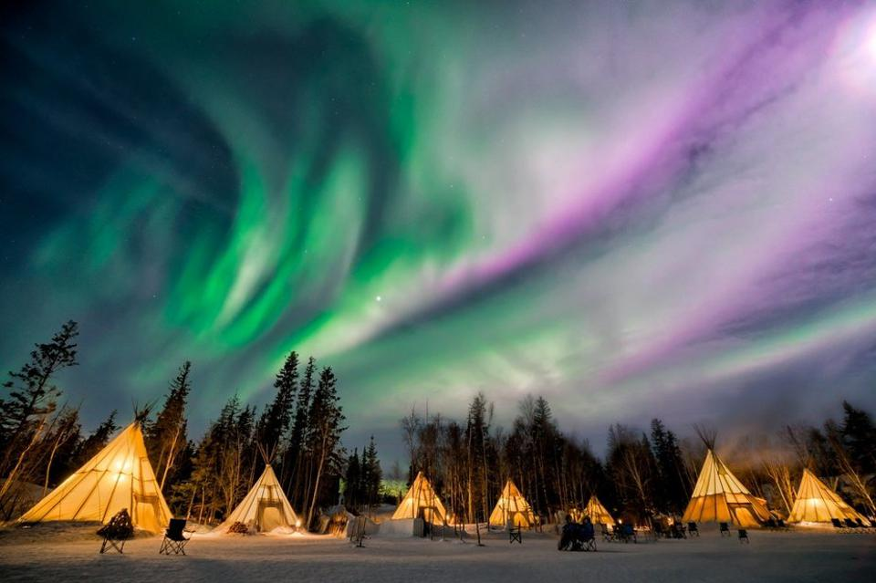 The northern lights in Canada, by Sabrina Joseph.