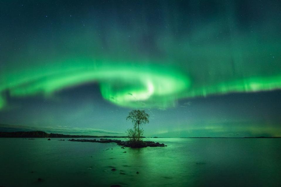 Jason Tilikainen's photo of the northern lights was taken in Kontiolahti, Finland.