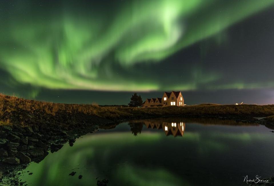 Nakul Sharma's photo of the northern lights.
