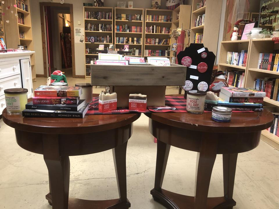 swag candles buttons romance bookstore love's sweet arrow tinley park illinois