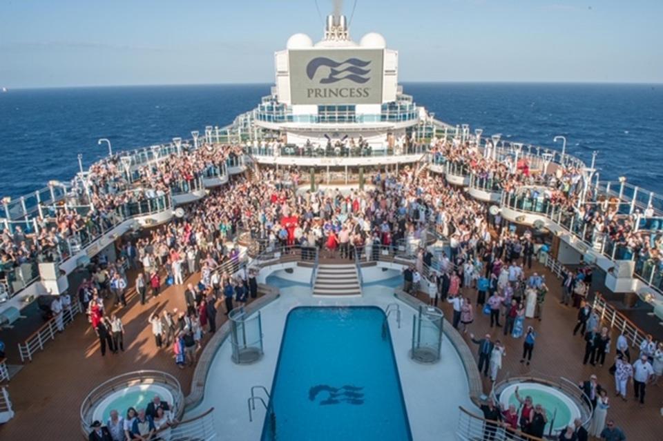 Vow renewal participants gather on Decks 16 and 17 of Regal Princess