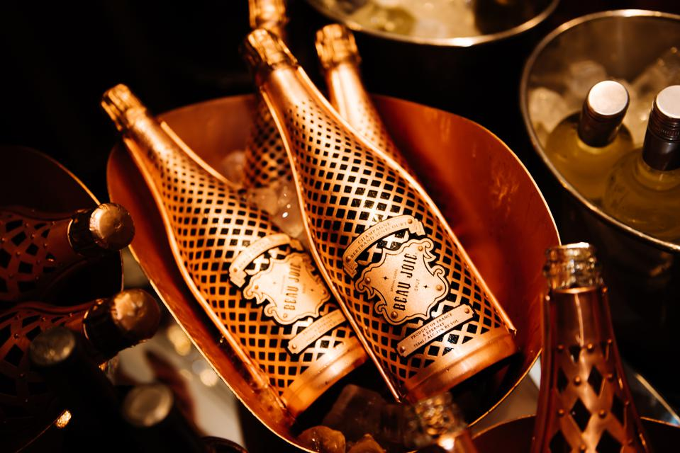 Beau Jolie Champagne's packaging is actually crafted from scrap copper.