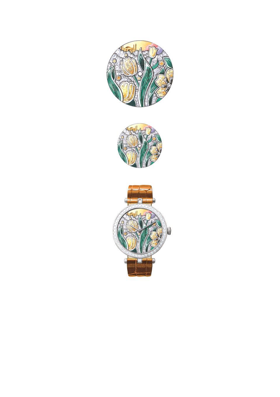 Van Cleef & Arpels Extraordinary Dials Lady Arpels Poème Tulipe watch