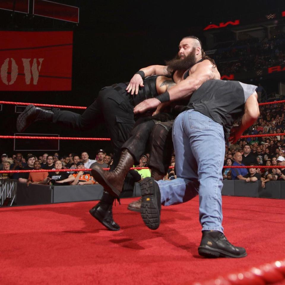WWE Raw January 2, 2017 Goldberg Roman Reigns Spear Braun Strowman
