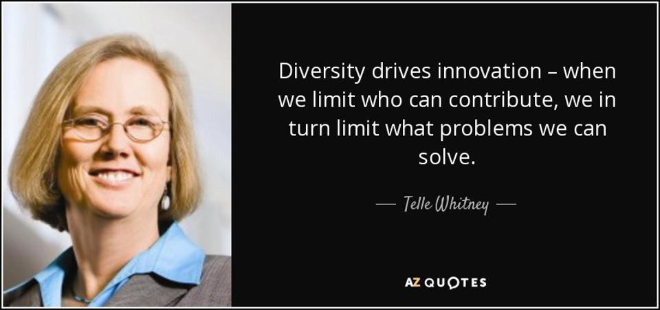 Telle Whitney, with quote