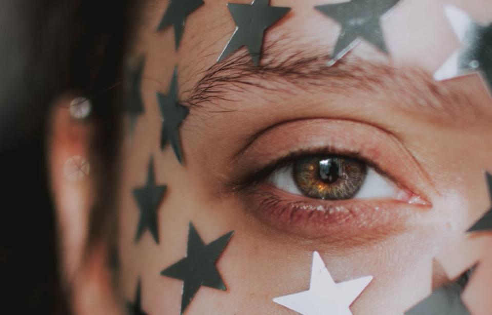 Stars on a face