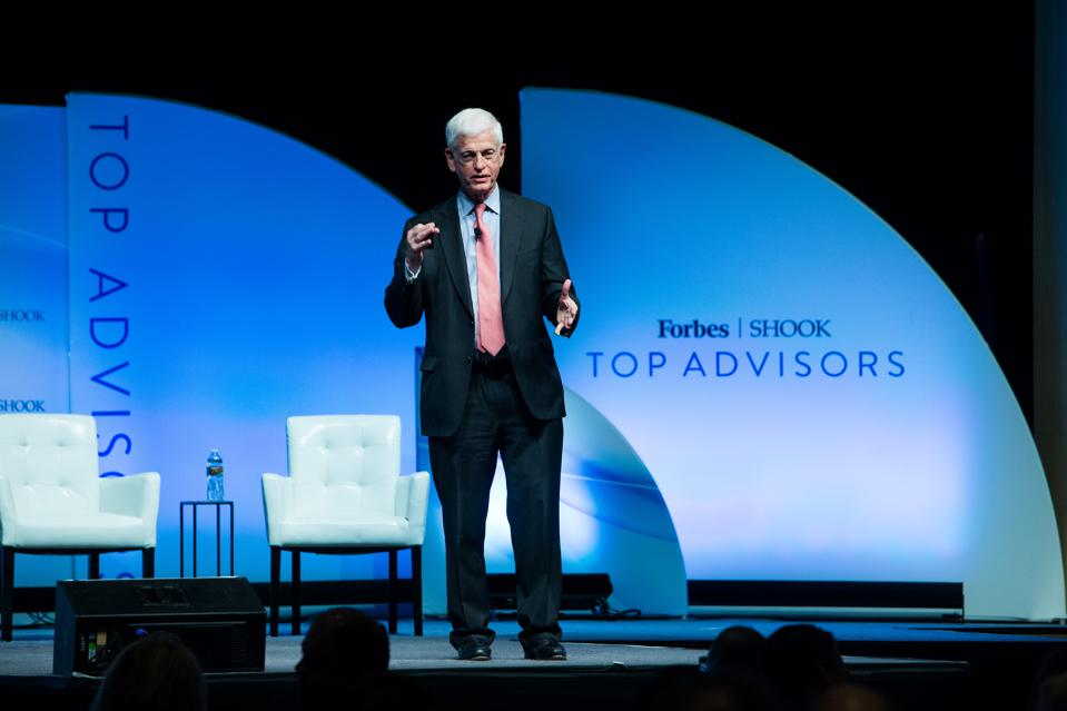 Mario Gabelli speaks at the Forbes/SHOOK Top Advisor Summit