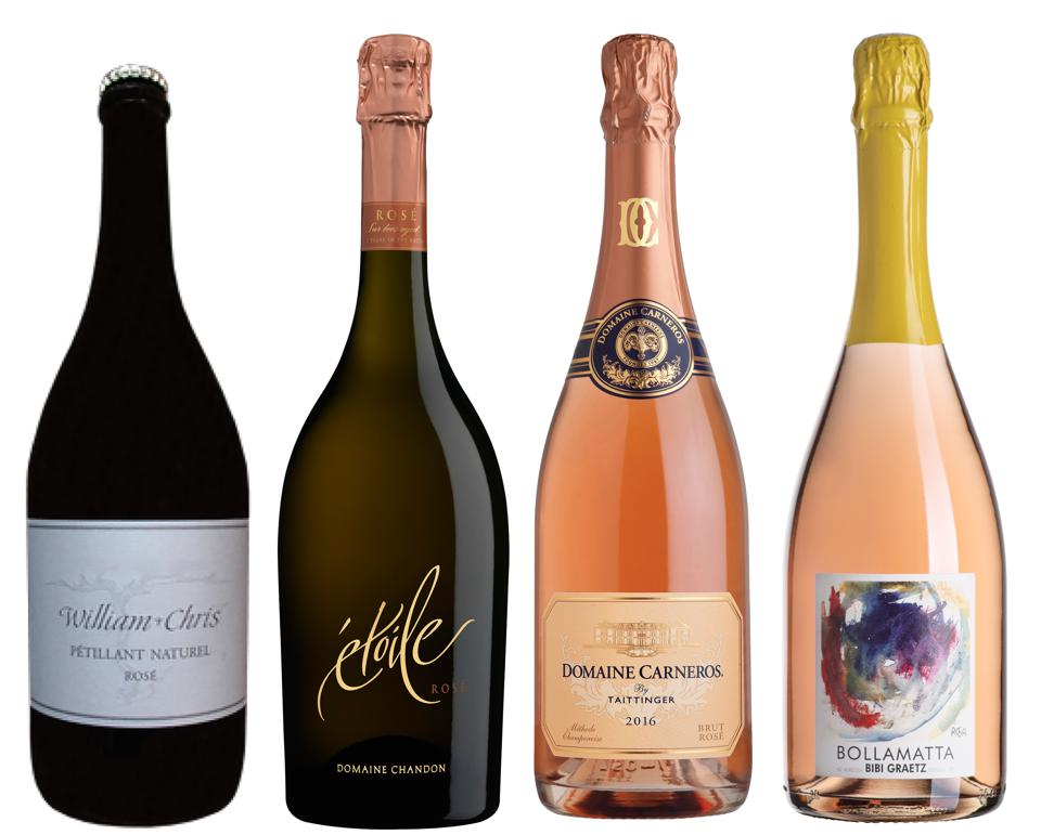 Pink sparkling wine is a Valentine's Day favorite