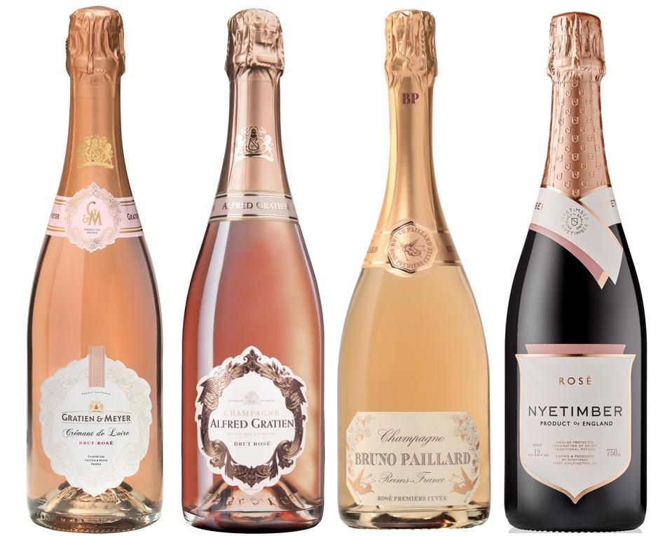 Pink bubbles from classic European regions are a Valentine's Day favorite.