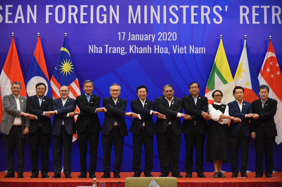 Foreign ministers of the Association of Southeast Asian Nations (ASEAN).