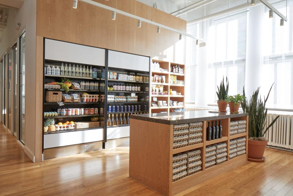 Merchandising Area at WeWork Food Labs: Courtesy of Alexandra Rowley/The LuupeWeWork