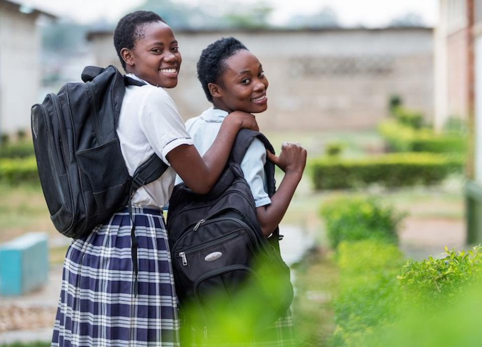 Students from Matero Girls Secondary School in Lusaka, Zambia.