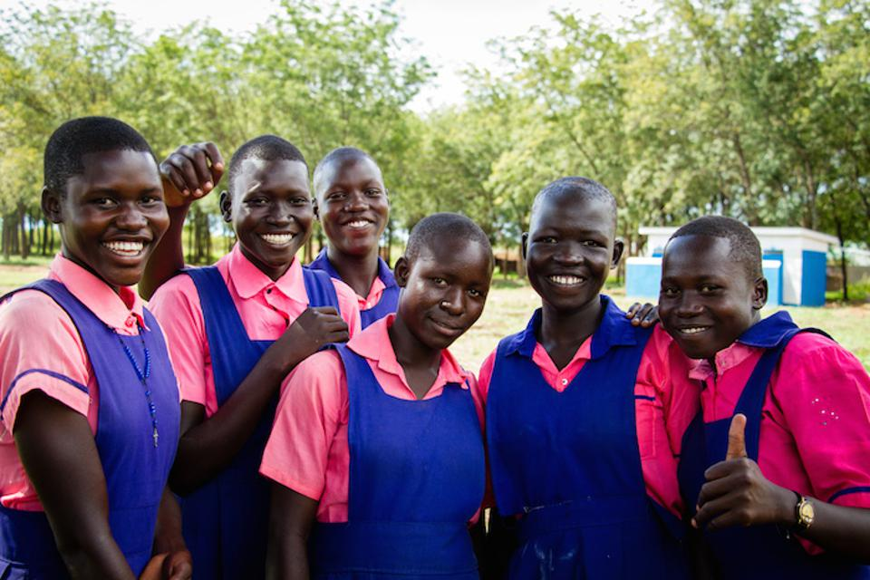 UNICEF helped make sure that girls who go to Umwia Primary School, in the Adjumani District of Northern Uganda, have adequate washing facilities to make it easier to attend school while they are menstruating.
