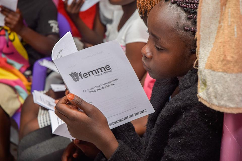 Femme International, based in Tanzania, employs a network of women to disseminate information on managing menstrual health and hygiene and engage the broader community to help de-stigmatize the issue.