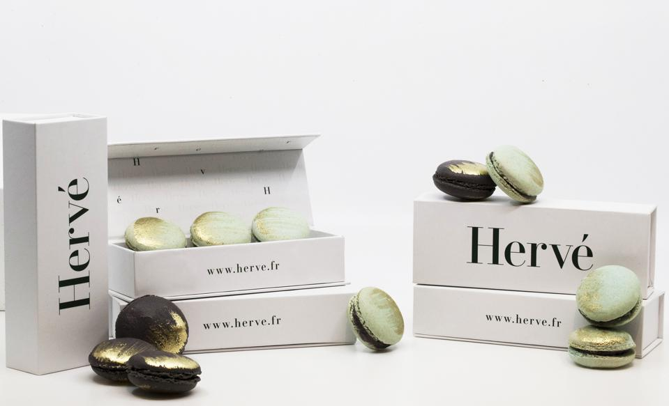 Hervé, cannabis-infused macarons, luxury cannabis, gourmet edibles, Cannabiniers