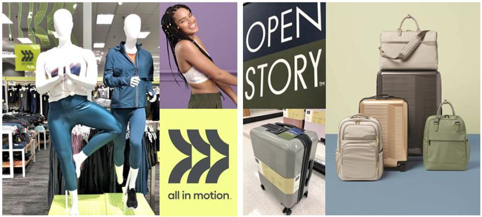 Target's legion of private labels expanded with the addition of All in Motion & Open Story