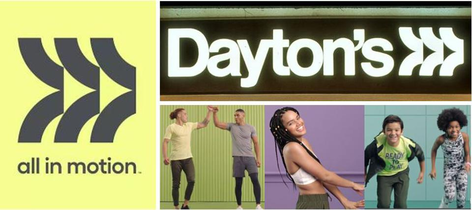 Minneapolis' Dayton's logo, first introduced in 1968 was the inspiration for All in Motion