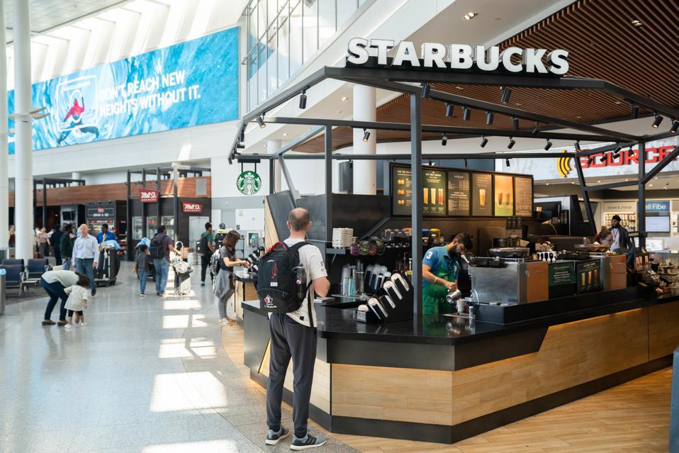 American coffee company and coffeehouse chain Starbucks...
