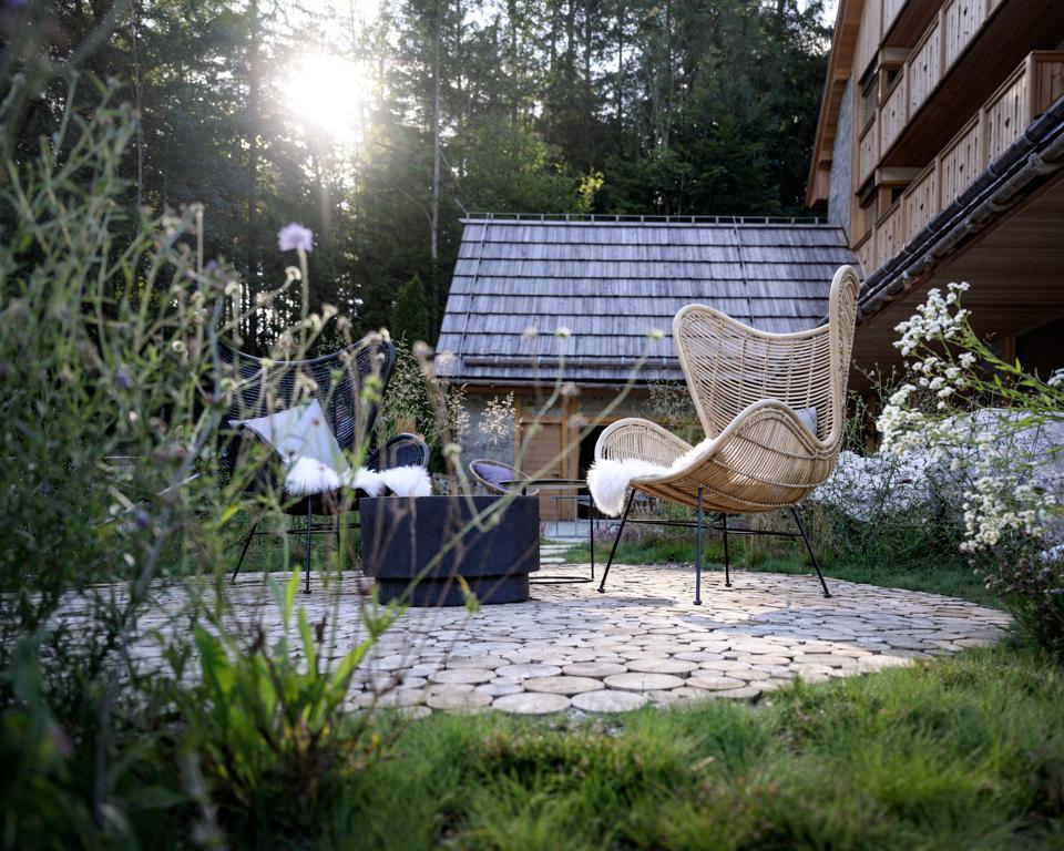 Le point d'énergie à côté de Vila Planinka, en Slovénie, un endroit parfait pour la méditation.