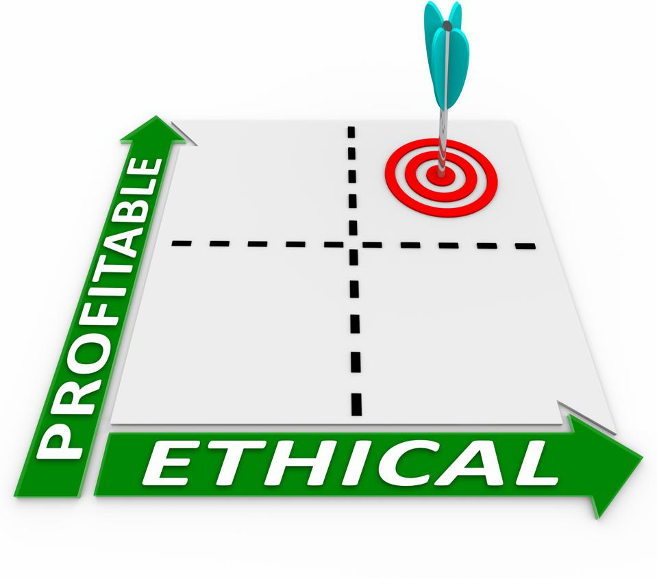 Ethical Vs Profitable Matrix - Ethics and Profits Converge