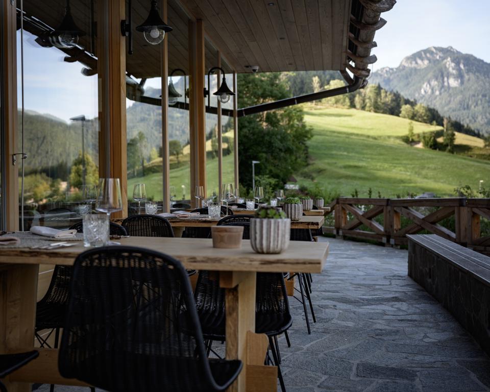Les repas à Vila Planinka se combinent avec des vues alpines à couper le souffle