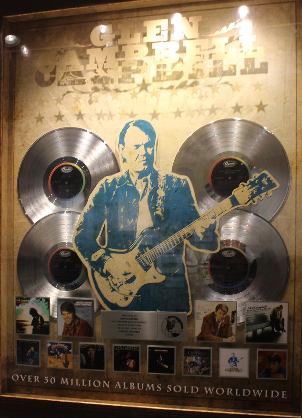 Glen Campbell sold more than 50 million albums worldwide during his career