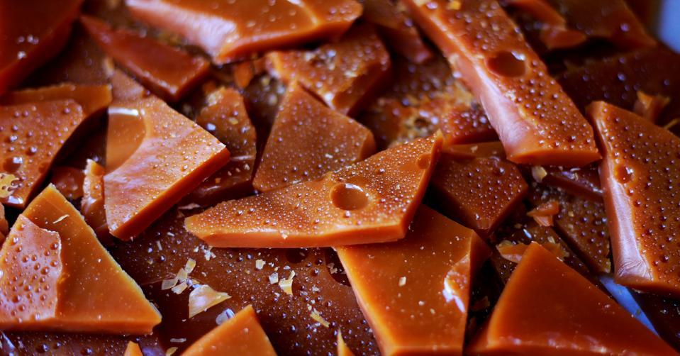 House made caramel chunks for chocolate