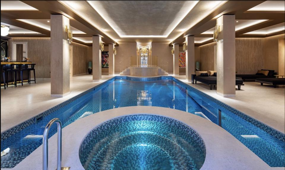 The 14-meter pool underneath London's current most expensive listing