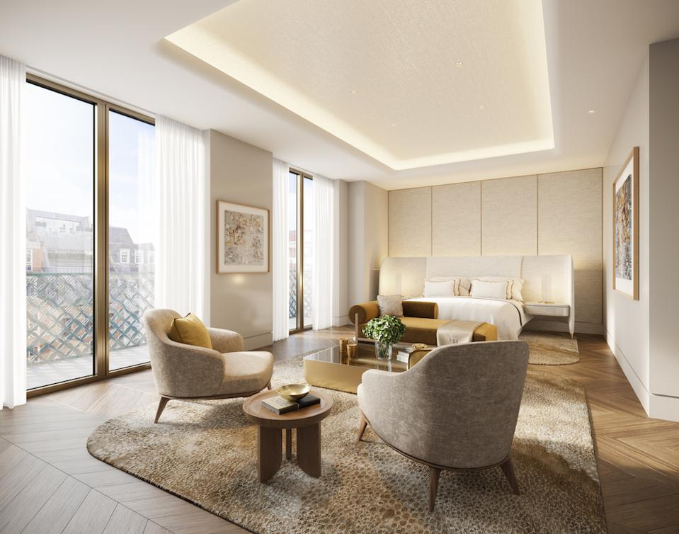 Rendering of the Master bedroom at Mayfair Park Residences