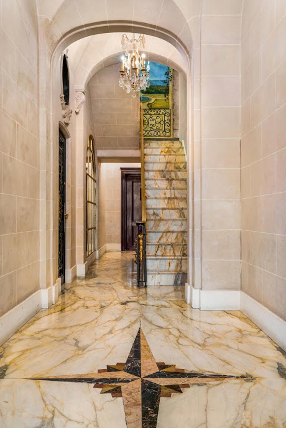 A marble lobby
