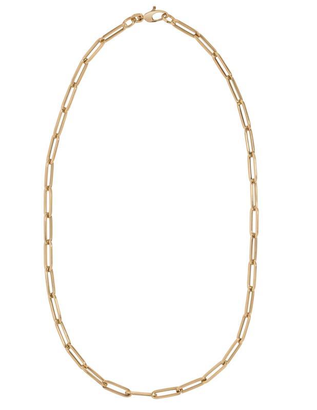 paper clip gold chain