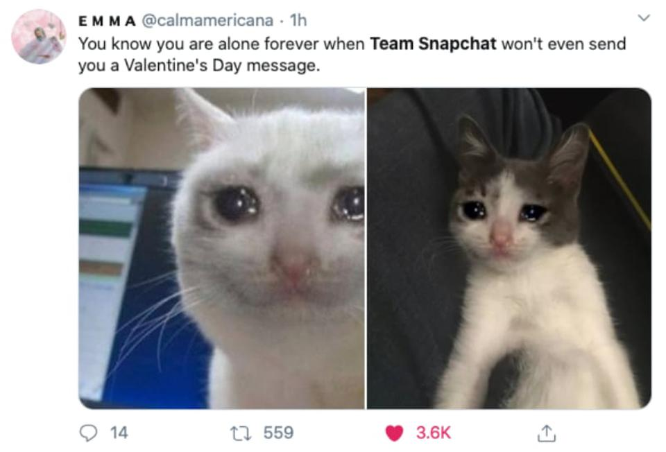 Along forever? Only if you don't get a message from Team Snapchat
