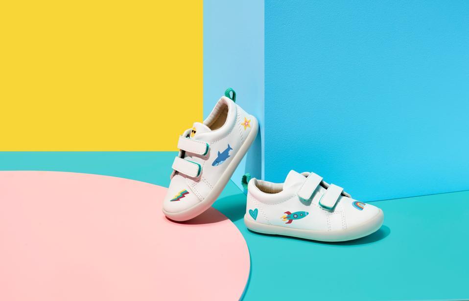 Ten Little sneakers featuring custom stickers