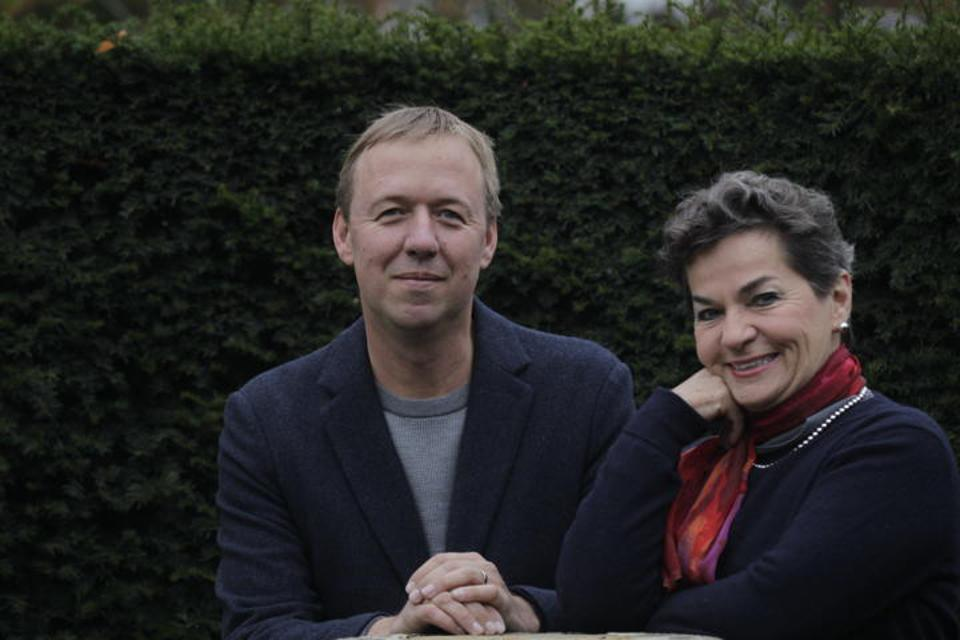 Tom Rivett-Carnac and Christiana Figueres (Photo by Henry Dallal) authors of The Future We Choose: Surviving the Climate Crisis