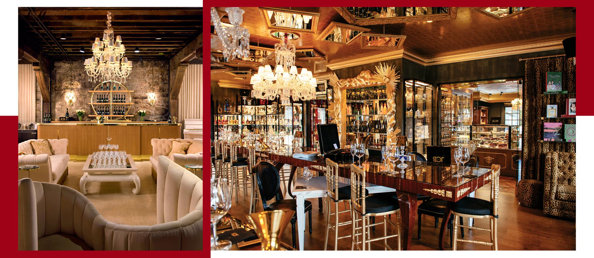 The elegant tasting rooms at two of Boisset's vineyards, Buena Vista (left) and Yountville