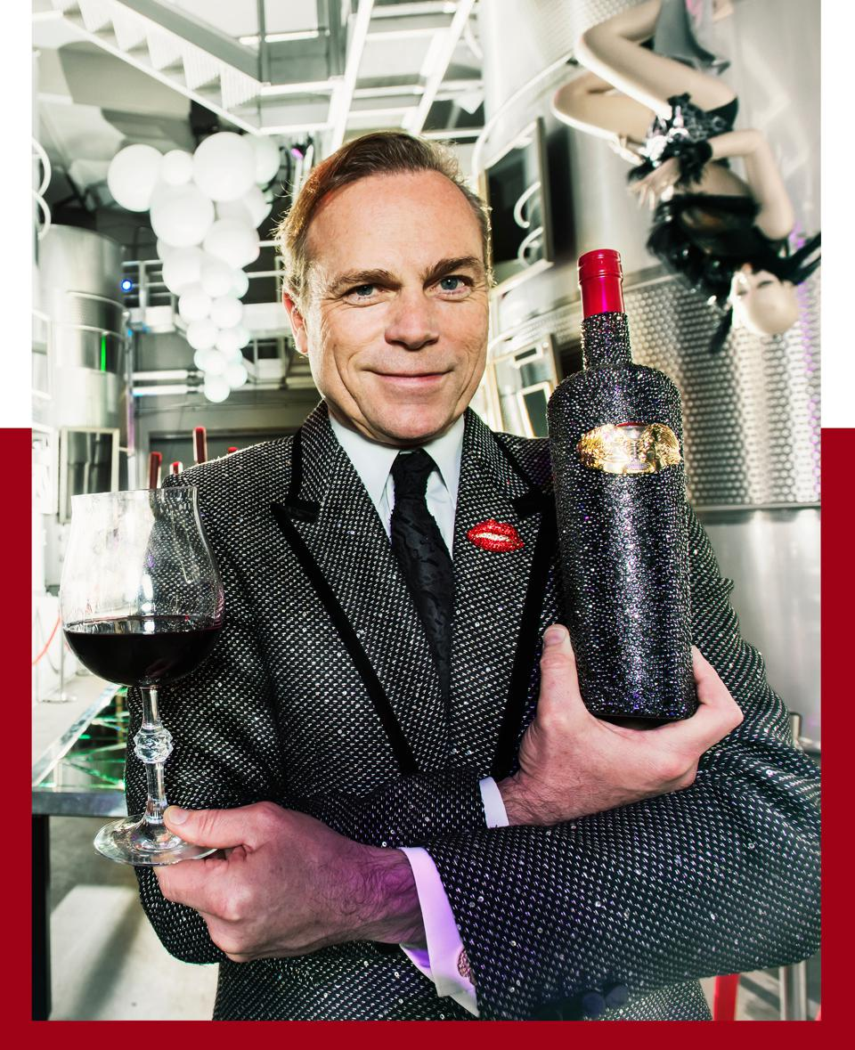 Boisset has a longstanding collaboration with Swarovski—the collection includes a brooch of his wife Gina Gallo's lips.