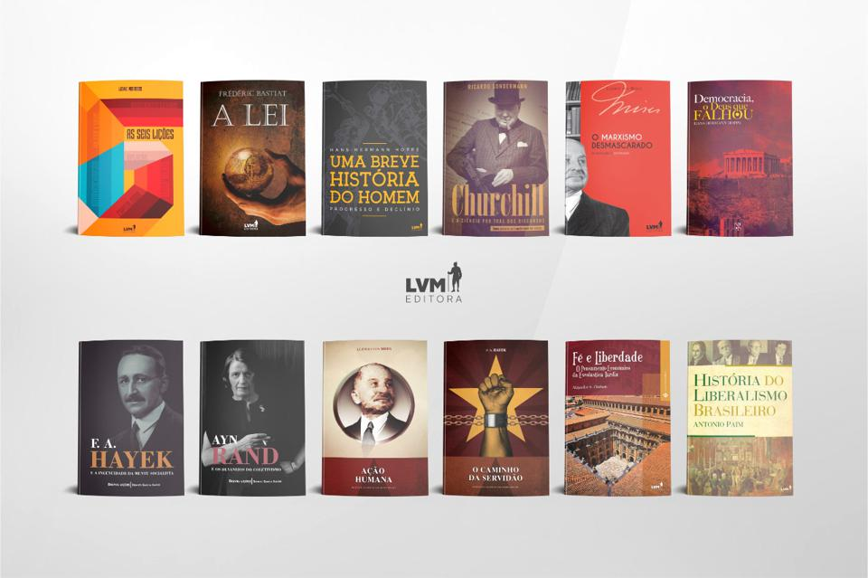 Pictures of the covers of twelve books recently published by LVM