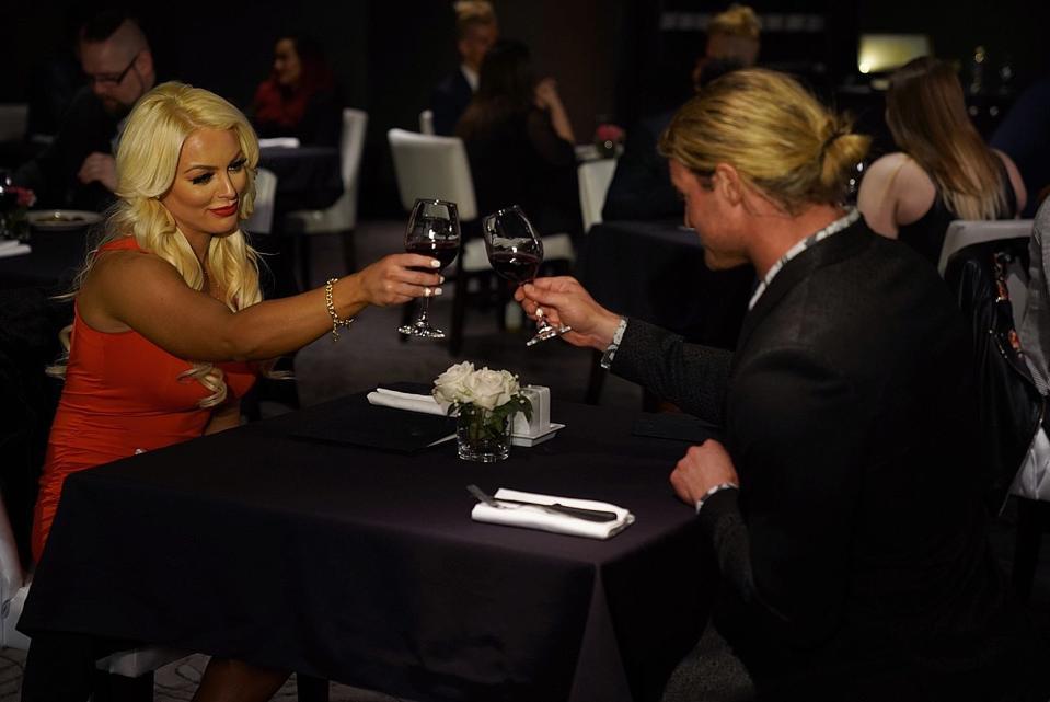 Dolph Ziggler Mandy Rose Valentine's Day Otis WWE Friday Night SmackDown