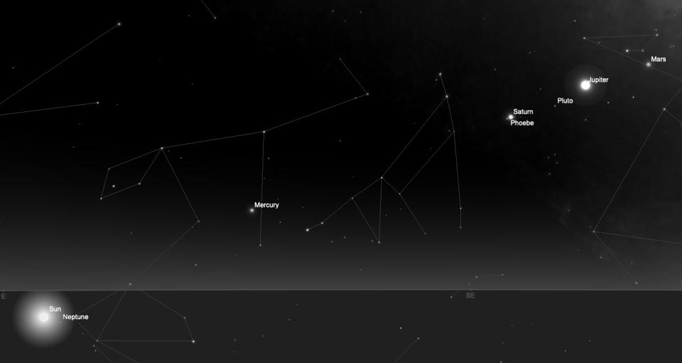 Look east before sunrise to see four planets on Monday morning.