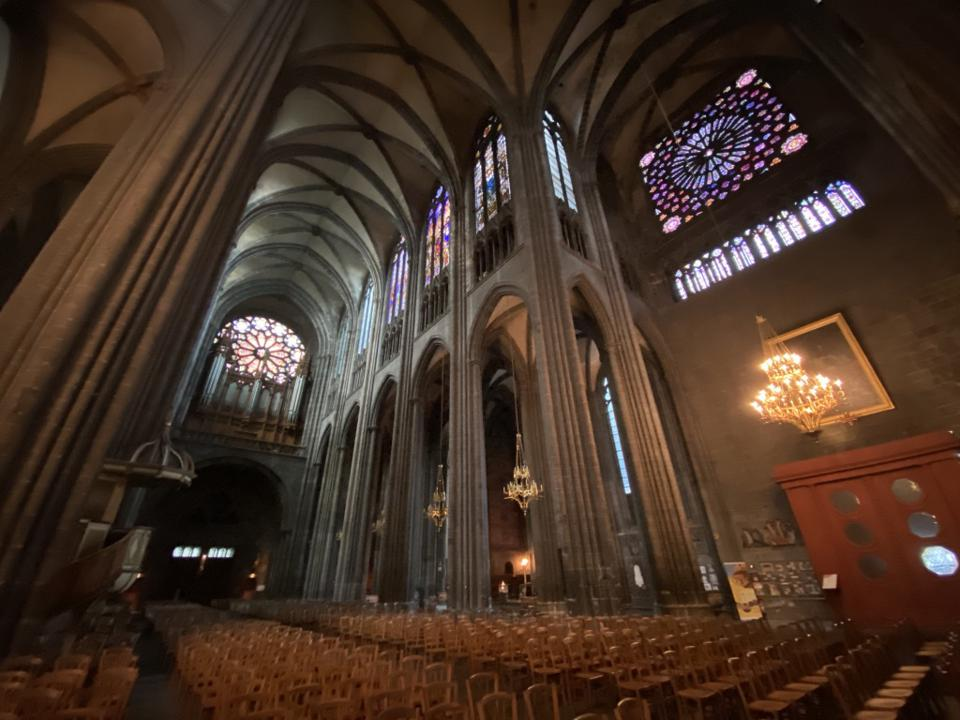 Gothic cathedral of Clermont-Ferrand
