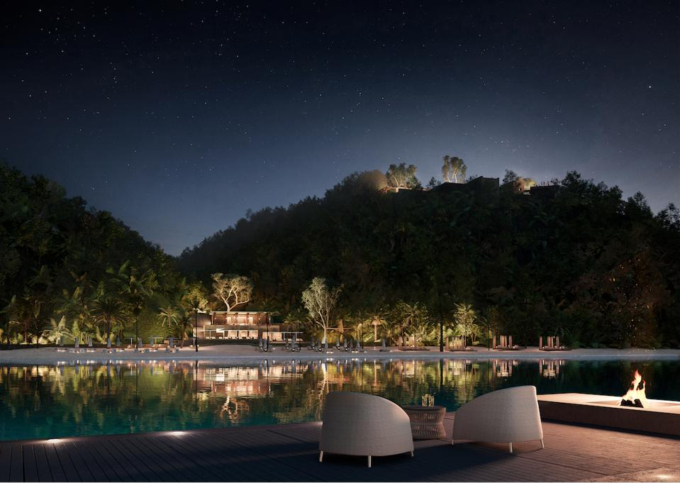 Mandarina glows under the night stars